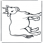 Animals coloring pages - Cow 2