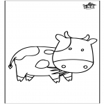 Animals coloring pages - Cow 3