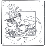 Bible coloring pages - Creation 1