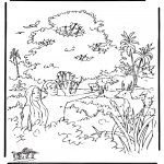 Bible coloring pages - Creation 2