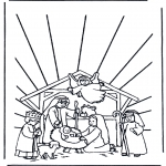 Bible coloring pages - Crib 1