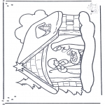 Christmas coloring pages - Crib 2