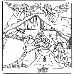 Bible coloring pages - Crib 3