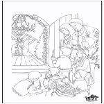 Christmas coloring pages - Crib 5