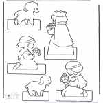 Christmas coloring pages - Crib craft 1