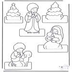 Christmas coloring pages - Crib craft 2