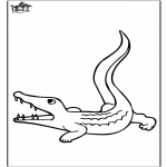 Animals coloring pages - Crocodile 3