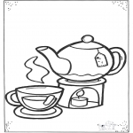 Kids coloring pages - Cup of thee