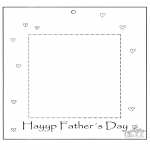 Theme coloring pages - Dads day fotoframe