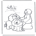Bible coloring pages - Daniel's In The Lion's Den 2