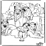Bible coloring pages - Daniel's In The Lion's Den 3
