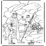 Bible coloring pages - David and Saul