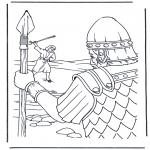 Bible coloring pages - David en Goliath 1