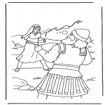 Bible coloring pages - David en Goliath 2