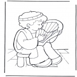 Bible coloring pages - David makes music
