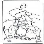 Bible coloring pages - David shepherd