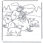 Bible coloring pages - David the shepherd