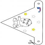 Crafts - Decoration flag Primalac