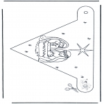 Christmas coloring pages - Decorationflag nativity