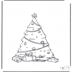 Christmas coloring pages - Decoreted x-mastree