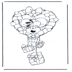 Christmas coloring pages - Diddl x-mas 1