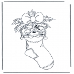 Christmas coloring pages - Diddl x-mas 2