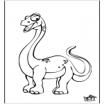 Animals coloring pages - Dinosauer 10