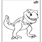 Animals coloring pages - Dinosauer 11
