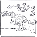Animals coloring pages - Dinosauer 2