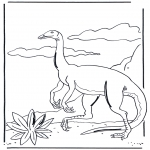 Animals coloring pages - Dinosauer 3
