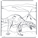 Animals coloring pages - Dinosauer 4