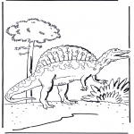 Animals coloring pages - Dinosauer 5