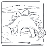 Animals coloring pages - Dinosauer 6