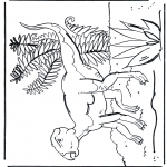 Animals coloring pages - Dinosauer 7