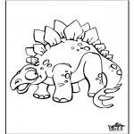 Animals coloring pages - Dinosauer 9