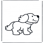 Animals coloring pages - Dog 1