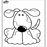 Animals coloring pages - Dog 10