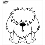 Animals coloring pages - Dog 11