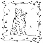Animals coloring pages - Dog 4