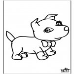 Animals coloring pages - Dog 6