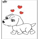 Animals coloring pages - Dog 7