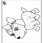 Animals coloring pages - Dog 8