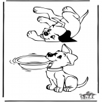 Animals coloring pages - Dogs 3