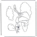 Theme coloring pages - Dombo stork