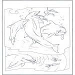 Animals coloring pages - Dophins 2