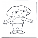 Kids coloring pages - Dora the Explorer 1