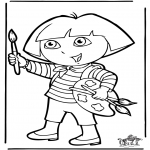 Kids coloring pages - Dora the Explorer 10