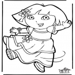 Kids coloring pages - Dora the Explorer 11