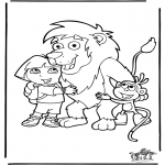 Kids coloring pages - Dora the Explorer 2