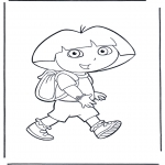 Kids coloring pages - Dora the Explorer 21